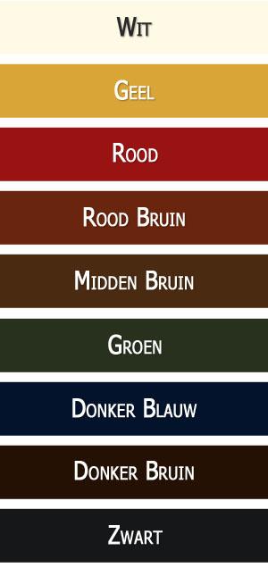 Leather Care verkrijgbaar in Wit, Geel, Rood, Rood Bruin, Midden Bruin, Groen, Donker Blauw, Donker Bruin en Zwart