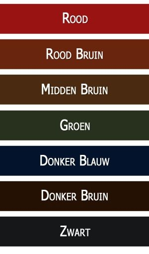 Leather Care verkrijgbaar in Rood Bruin, Midden Bruin, Donker Bruin en Zwarta